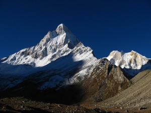 Shivling and Meru from Tapovan