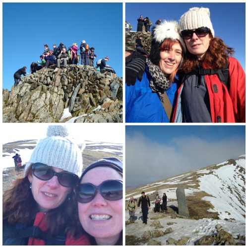Almost the summit and the summit with lovely people